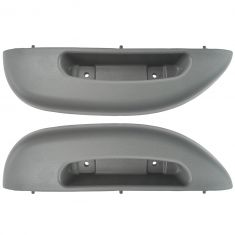 96-02 Chevy Express, GMC Savana Van Front Door Panel Mounted Pewter Armrest/ Pull Handle Pair
