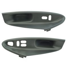 99-04 Mustang Coupe Window Switch Bezel Medium  Graphite (Gray) Pair