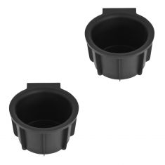09-14 Ford F150 (w/Flow Through Console) Front Mounted Black Rubber Cup Holder Insert Pair  (Ford)
