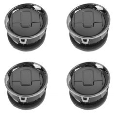 09-14 F150 Dash Mounted Chrome & Obsidian Metallic Air Vent Louver (Set of 4) (Ford)
