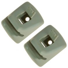 00-04 Ford Focus; 05-07 Focus Hatchback Parchment Sunvisor Retainer Clip Pair (Ford)