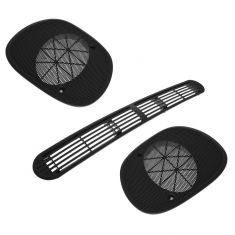 95-05 GM Mid Size SUV; 94-04 GM Mid Size PU Black Front Speaker Grille Cover Kit (Set of 3) (GM)