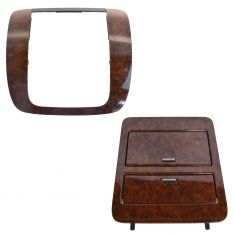 07-14 GM Full Size PU, SUV Gaston Walnut Radio Instrument Bezel & Cup Holder Set (GM)