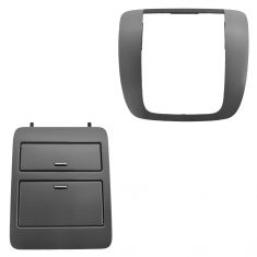 07-14 GM Full Size PU, SUV Brushed Metallic Radio Instrument Bezel & Cup Holder Set (GM)