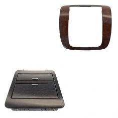 07-14 GM Full Size PU, SUV Dark Maple Radio Instrument Bezel & Cup Holder Set (GM)