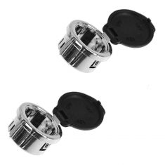 07-14 Cadillac,GMC, Chevy Car & FS PU & SUV Power Outlet Replacement Chrome Plug Retainer Pair (GM)