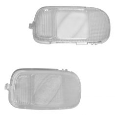 02-08 Dodge Ram 1500; 03-09 Ram 2500, 3500 Overhead Console Mounted Light Lens Cover PAIR (Mopar)