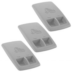 04-06 Sbrng, Strts; 05-10 300, Chrgr; 10-14 Chlngr Chld Seat Anchor Lt Graystone Cover Set of 3 (MP)