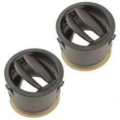 06-10 Jeep Commander Dash Mounted Inner or Outer Khaki Air Vent Outlet Nozzle Grille Pair (Mopar)