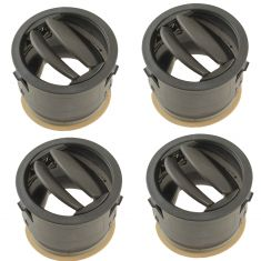 06-10 Jeep Commander Dash Mounted Inner or Outer Khaki Air Vent Outlet Nozzle Set of 4 (Mopar)