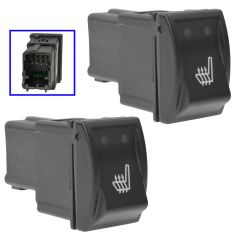 05-10 Chrysler 300; 06-10 Charger; 05-08 Magnum Dash Mounted Frnt Heated Seat Switch PAIR (Mopar)