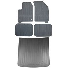 11-16 Dodge Journey Mld Black Rubber ~JOURNEY~ Logoed Frt, Rear & Cargo All Weather Flr Mat SET (MP)