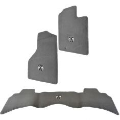 06-10 Dodge Ram 1500, 2500, 3500 Quad Cab Slate Gray Front & Rear Premium Carpet Floor Mat (Mopar)