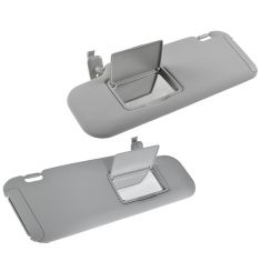 07-09 Mazda CX-7 Gray Sunvisor w/Integrated Vanity Mirror & Pull Out Shade Pair(Mazda)