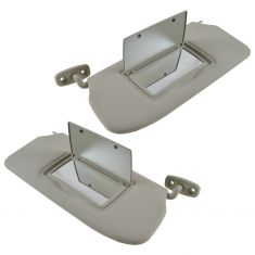 07-10 Nissan Sentra (w/o Sunroof) Beige Cloth Sun Visor w/Integrated Vanity Mirror PAIR (Nissan)