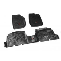 07-13 Jeep Wrangler 4DR w/LHD Black Kit Floor Liner (Rugged Ridge)