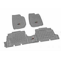 07-13 Jeep Wrangler 4DR w/LHD Gray Kit Floor Liner (Rugged Ridge)