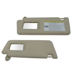05-14 Toyota Tacoma Beige Cloth Sun Visor w/Integrated Mirror & Extension PAIR (Toyota)