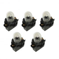 90-06 Ford, Mercury Multifit (exc Digital Dash) Instrument Cluster Bulb w/Socket (Pack of 5)