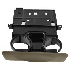 00-04 Ford Excursion; 99-04 F250SD-F550SD Parchment Dash Mtd Dual Cup Holder (FORD)