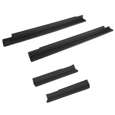 07-15 Jeep Wrangler (4 Door) Molded Black Plastic Door Sill Entry Guard Kit (MOPAR)
