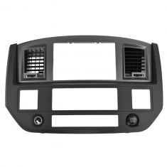 06-08 Dodge Ram 1500; 06-09 2500 3500 Dash Navigation Radio Bezel Assy (Gray & Carbon Fiber) (Mopar)
