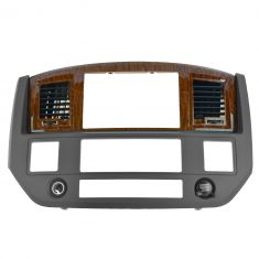 06-08 Dodge Ram 1500; 06-09 2500 3500 Dash Navigation Radio Bezel Assy (Slate Gray & Wood) (Mopar)