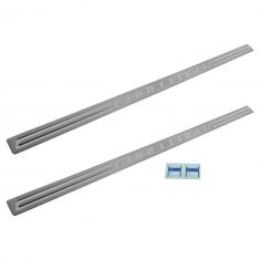 14-15 Dodge Challenger Stainless Steel ~CHALLENGER~ Logoed Adhesive Door Sill Entry Guard PAIR (MP)