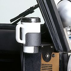 Cup Holder Windshield Mount, 76-95 Jeep CJ and Wrangler