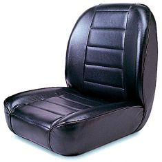 Low-Back Front Seat, Non-Recline, Black, 55-86 Jeep CJ Models