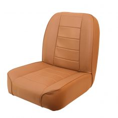 Low-Back Front Seat, Non-Recline, Tan, 55-86 Jeep CJ Models