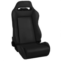 Sport Front Seat, Reclinable, Black Denim, 76-02 Jeep CJ and Wrangler
