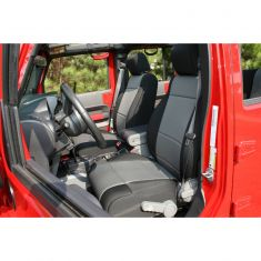 Neoprene Front Seat Covers, Black and Gray, 07-10 Jeep Wrangler