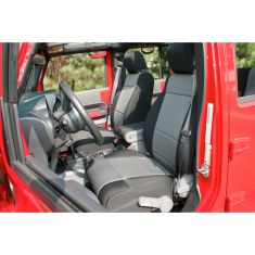 Neoprene Front Seat Covers, Black and Gray, 11-14 Jeep Wrangler