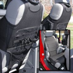 Neoprene Seat Vests, Black, 07-14 Jeep Wrangler (JK)