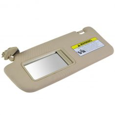 07-09 Hyundai Santa Fe (w/o Sunroof) Beige Sun Visor w/Integrated Lighted Mirror & Extender LH (HY)