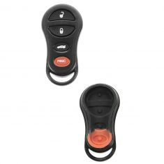 01-06 Chrysler; 01-10 Dodge; 02-04 Jeep Multifit FOB Keyless Remote Case w/Plastic Insert