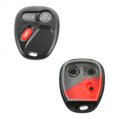 02 Escalade; 98-04 GM Full Size PU, SUV (3 Button) Keyless Remote Case w/Insert (FCC ID: KOBUT1BT)