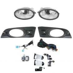 06-07 Honda Accord Coupe Add-on Clear Lens Fog Light Pair w/ Installation Kit