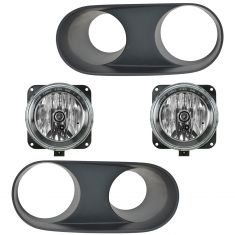 03-04 Ford Mustang SVT Cobra Fog Light & Bezel Set