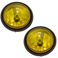00-10 Freightliner Columbia Fog Driving Light w/Yellow Lens Assembly PAIR