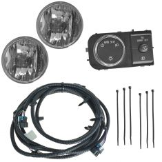 07-14 Avalanche, Suburban, Tahoe, Yukon, XL, Esclade ESV Dealer Installed Driving Fog Light Kit (GM)