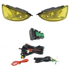 04-05 Honda Civic Add-on Yellow Lens Fog Light Pair w/ Installation Kit