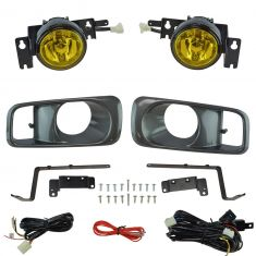 99-00 Honda Civic Add-on Yellow Lens Fog Light Pair w/ Installation Kit