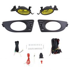 05-06 Acura RSX Add-on Yellow Lens Fog Light Pair w/ Installation Kit