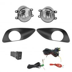 07-11 Yaris Sedan Add-on Clear Lens Fog Light Pair w/ Installation Kit