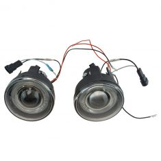 2001-04 Dodge Dakota; 01-03 Durango Performance Clear Lens Halo Fog Light Pair