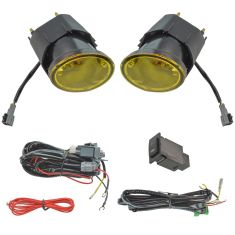 00-03 Sentra; 00-01 Maxima; 01-04 Frontr; 02-04 Xterra Add-On Yellow Fog Light Pair w/ Install Kit