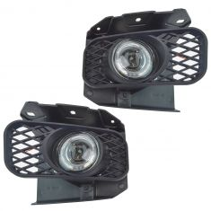 99-04 Ford F-Series Pickup Performance Clear Lens Halo Style Fog Light Pair