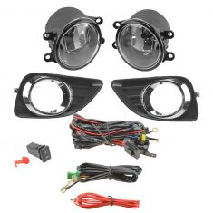 10-11 Toyota Camry Add-on Clear Lens Fog Light Pair w/ Installation Kit